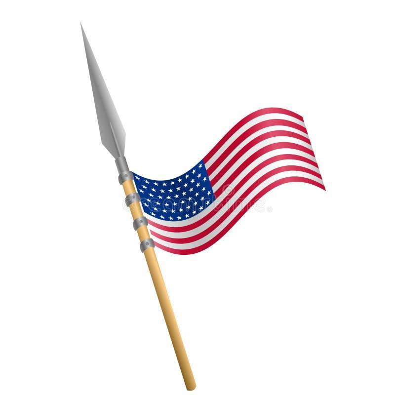 4th Lipa dnia niepodległości flaga zdjęcie stock