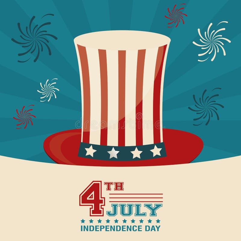 4th Lipa dnia niepodległości odgórnego kapeluszu dekoracyjny projekt royalty ilustracja