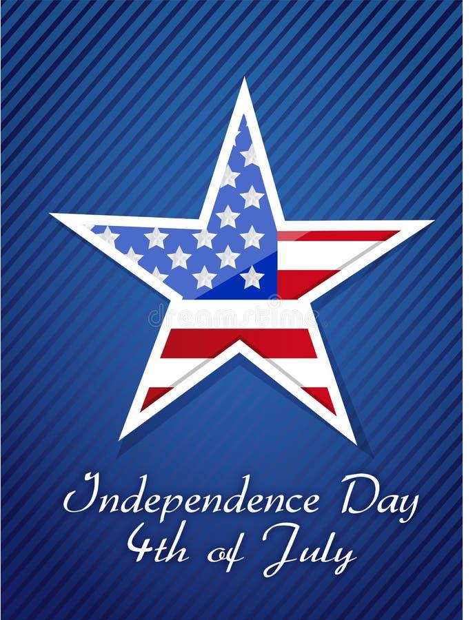 4th Lipiec, Amerykański dnia niepodległości pojęcie ilustracja wektor