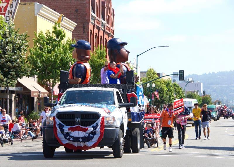 4th Lipiec parada, Alameda Kalifornia obrazy royalty free