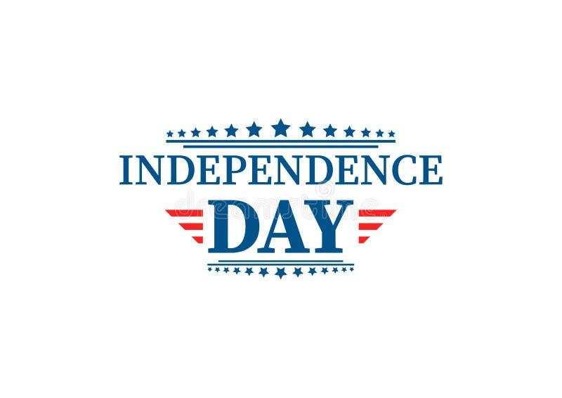 4th Lipiec, Zlany Twierdzić dnia niepodległości powitanie Czwarty Lipa typograficzny projekt Używalny jako kartka z pozdrowieniam royalty ilustracja