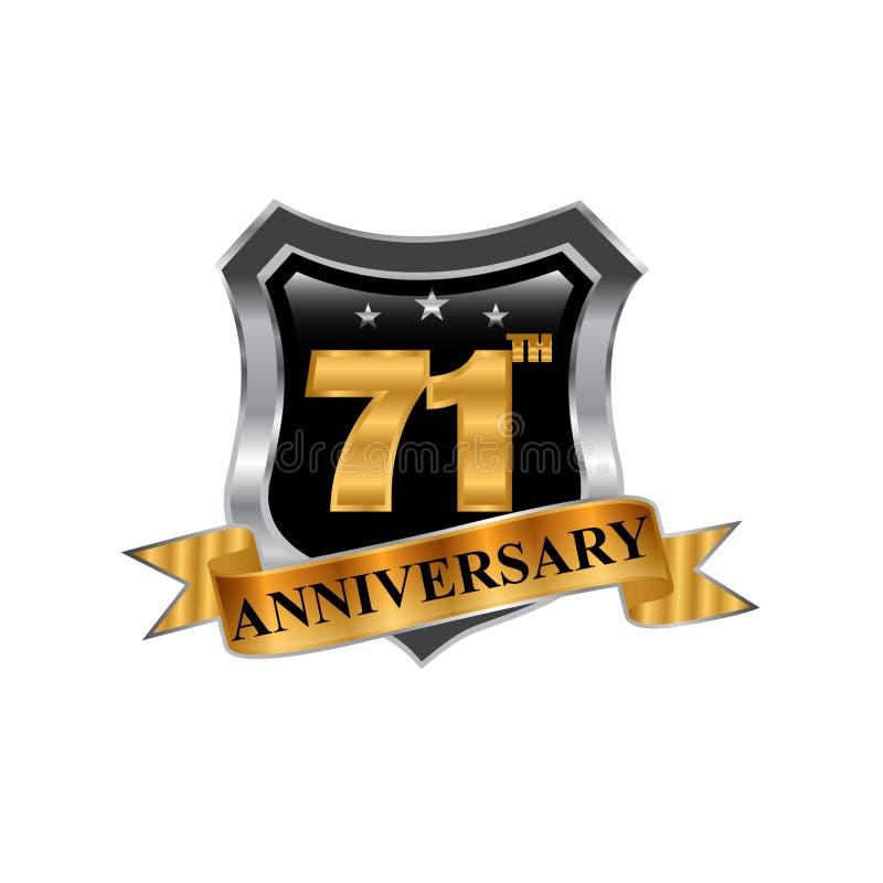 71th logo d'icône d'anniversaire d'années Élément de conception graphique illustration de vecteur