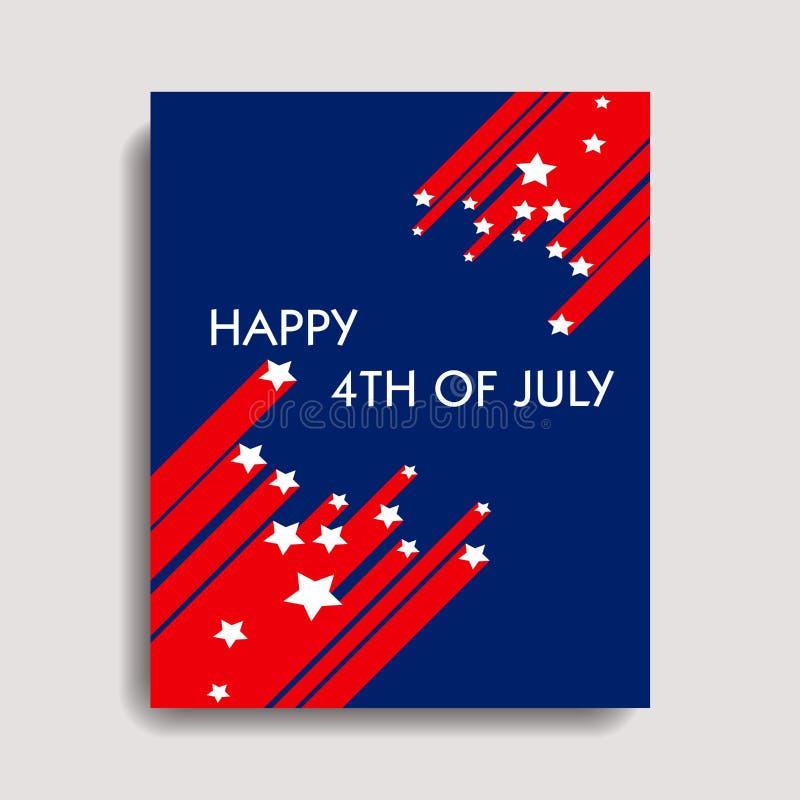 4th lyckliga juli royaltyfri illustrationer