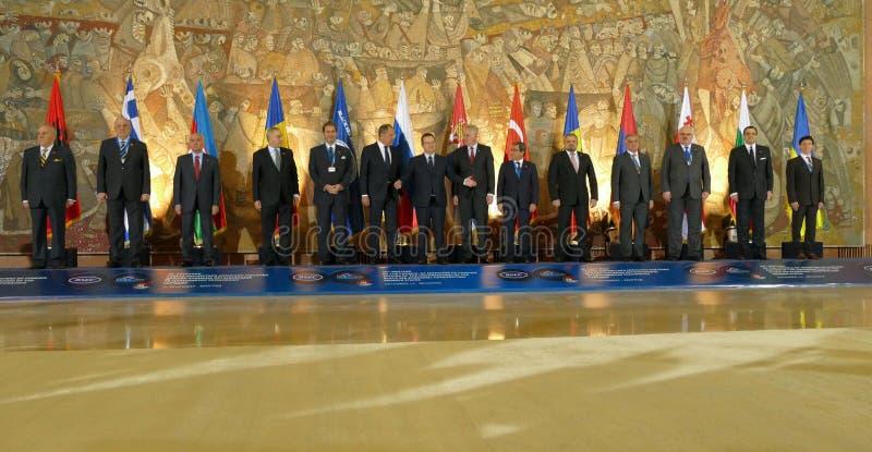 35th möte av rådet av ministrar av utländskt - angelägenheter av organisationen av medlemsstaten Black Sea för ekonomiskt samarbe arkivbild