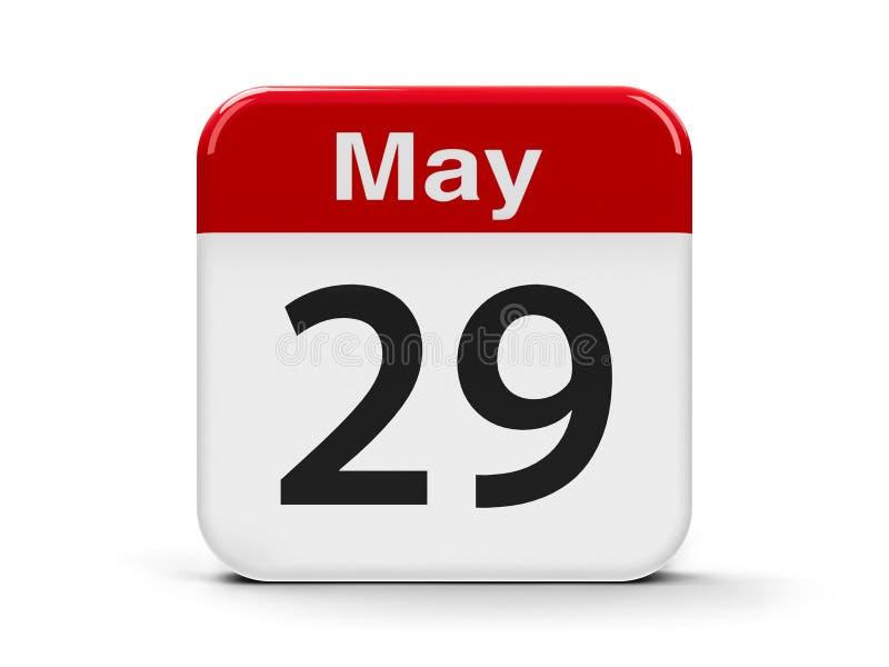 29th Maj kalender vektor illustrationer