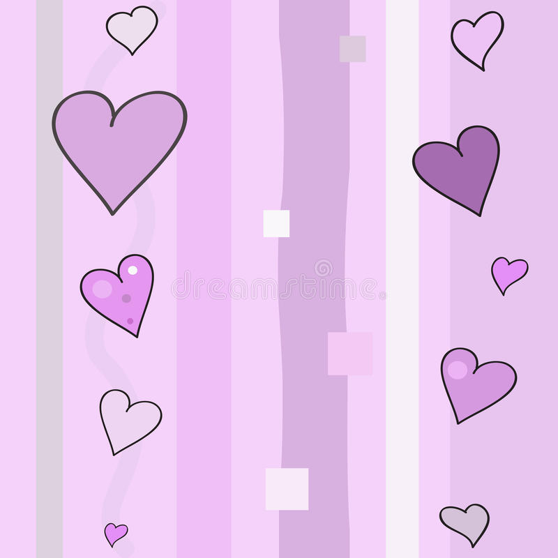 8th March Hearts Pattern stock image