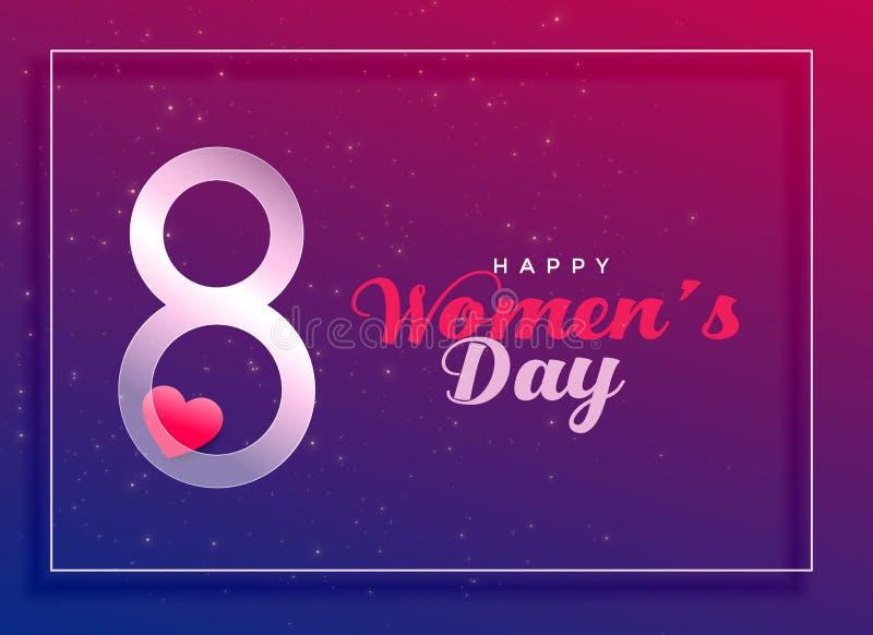 8th Marzec, międzynarodowy kobiety ` s dnia świętowania tło ilustracja wektor