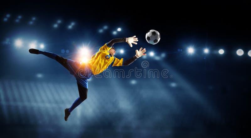 Th?me de football am?ricain - les moments de match les plus chauds Media m?lang? photo stock