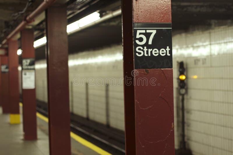 57th metro da rua - NYC fotografia de stock royalty free