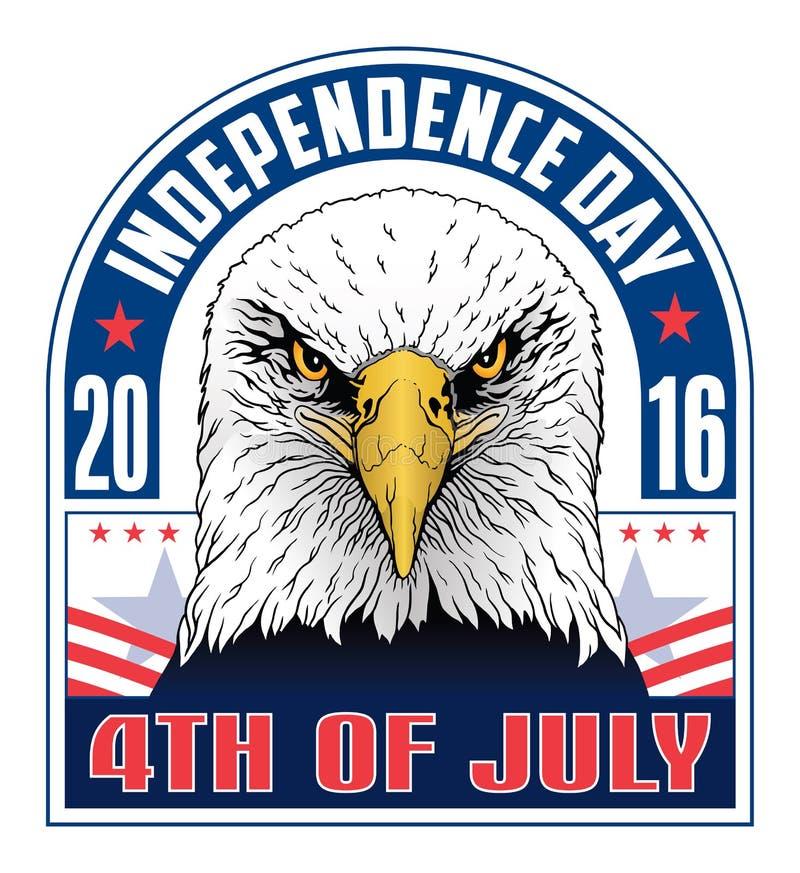 4th niezależność dzień royalty ilustracja