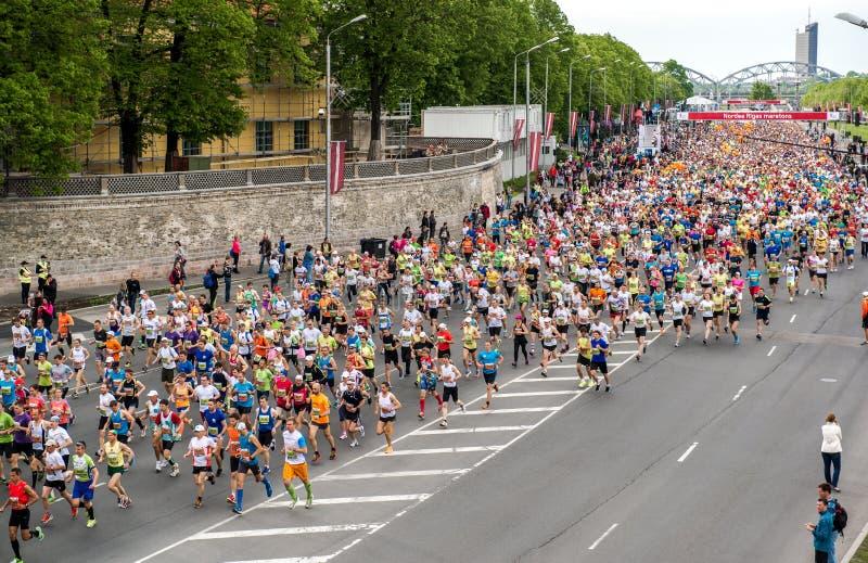 24th Nordea Riga maraton royaltyfri foto