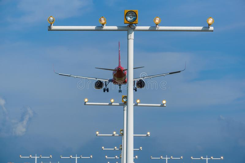 14th 2018 Nov, Kuala Lumpur, AirAsia linii lotniczej samolot fotografia stock
