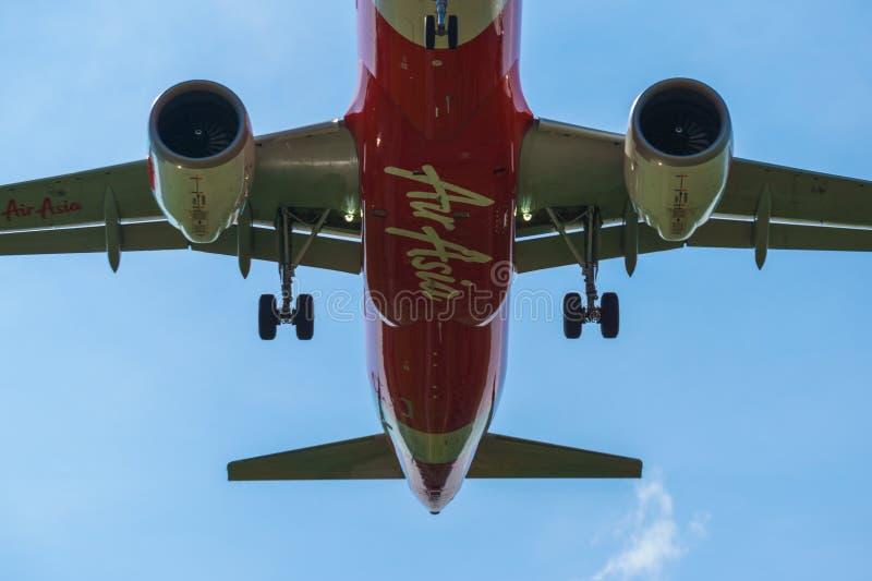 14th 2018 Nov, Kuala Lumpur, AirAsia linii lotniczej samolot obrazy royalty free