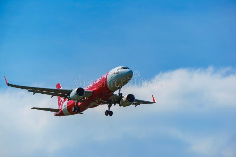 14th 2018 Nov, Kuala Lumpur, AirAsia samolot obraz royalty free