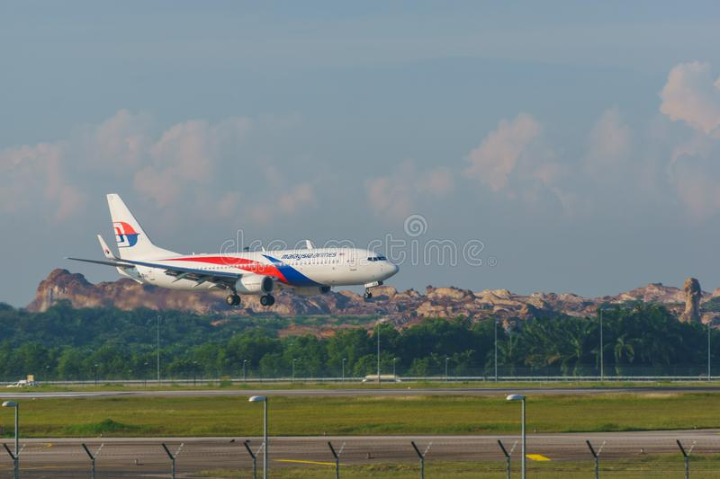 14th 2018 Nov, Kuala Lumpur, Malezyjski linia lotnicza samolot obraz stock