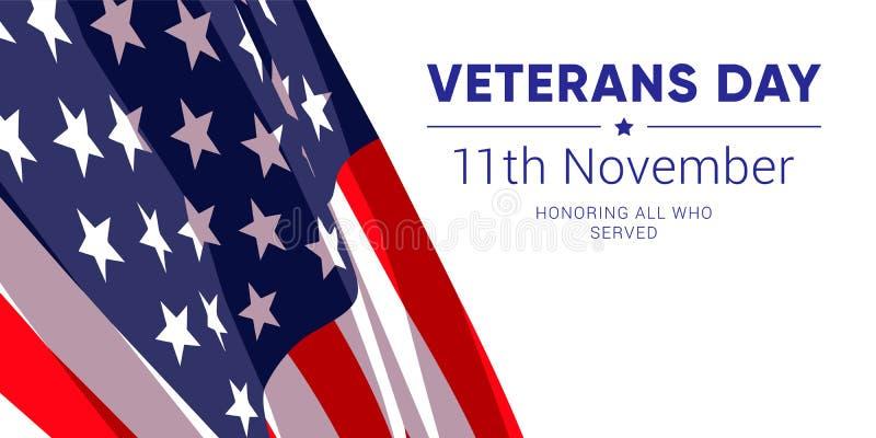 11th november - veterandag Hedra alla som tjänade som stock illustrationer