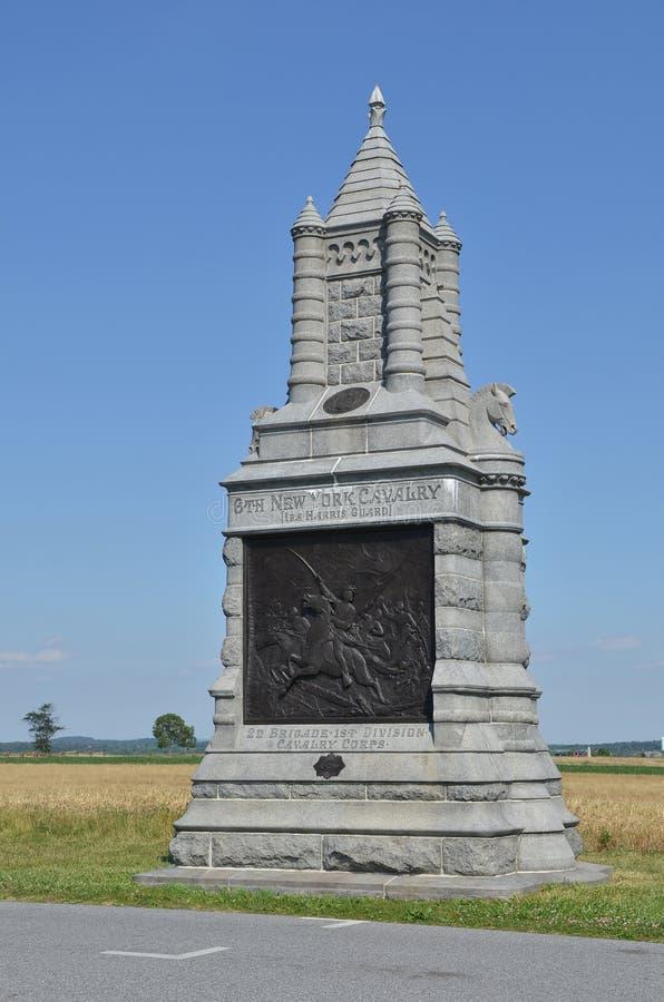 6th Nowy Jork Kalwaryjski zabytek przy Gettysburg, Pennsylwania fotografia royalty free