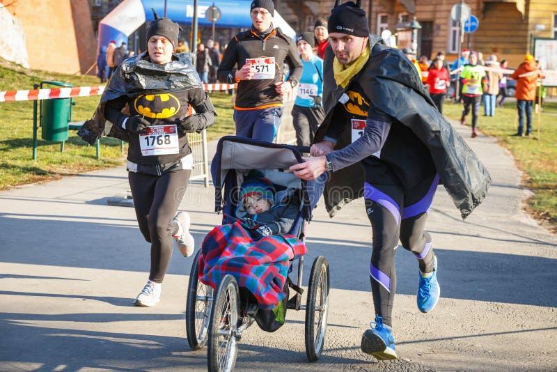 12th nytt års Eve Race i Krakow royaltyfria foton