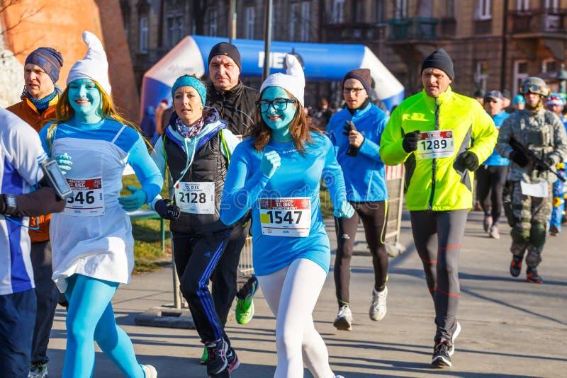 12th nytt års Eve Race i Krakow arkivfoto