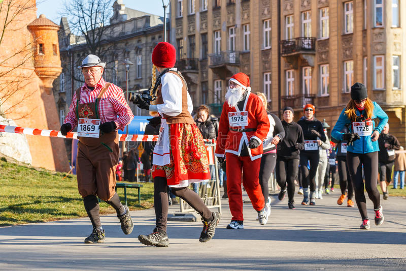 12th nytt års Eve Race i Krakow arkivfoton