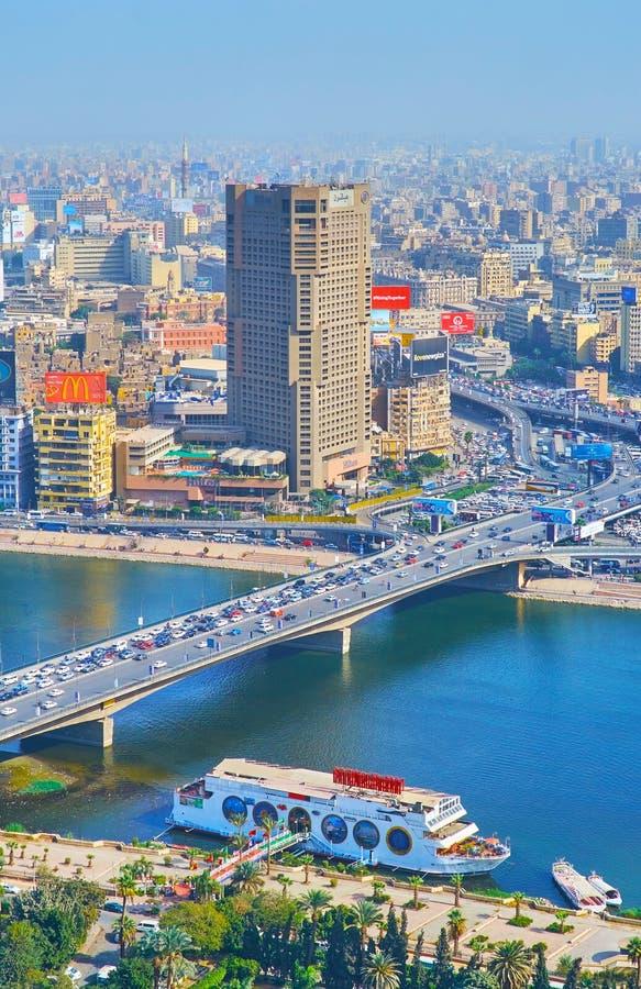 6th of October bridge, Cairo, Egypt stock image