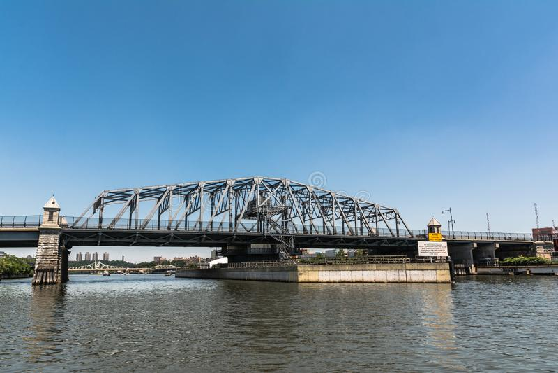 145th ponte della via sopra il fiume harlem, Manhattan, NYC immagine stock