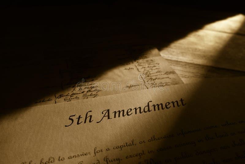 5th rättelse av konstitutionen arkivfoton