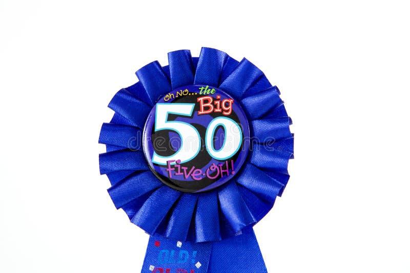 50th Ribbon royalty free stock photo