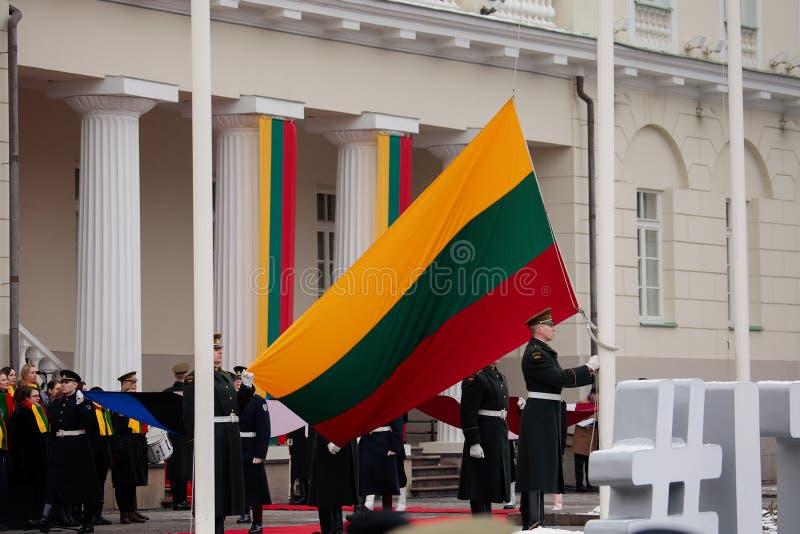 100th rocznica przywrócenie Litewski statehood obrazy royalty free