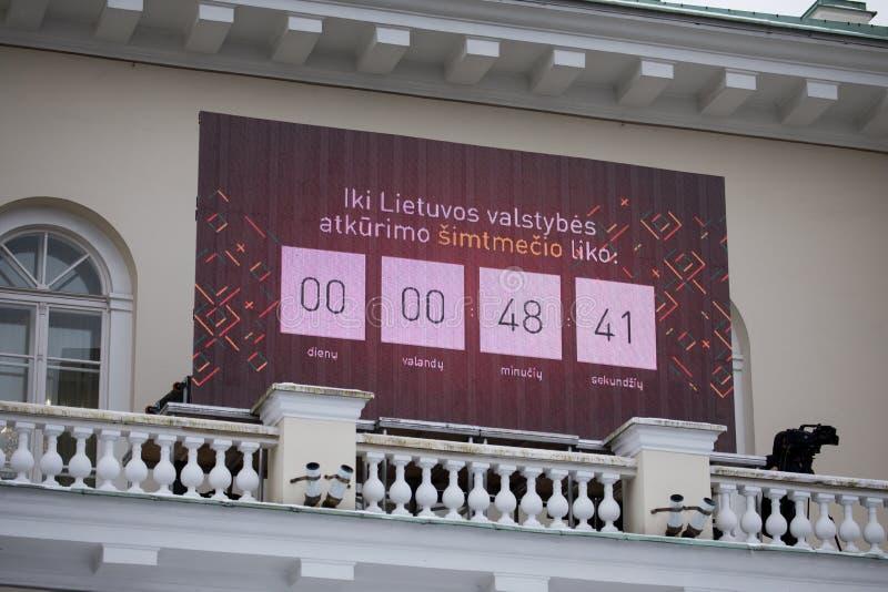 100th rocznica przywrócenie Litewski statehood obraz royalty free
