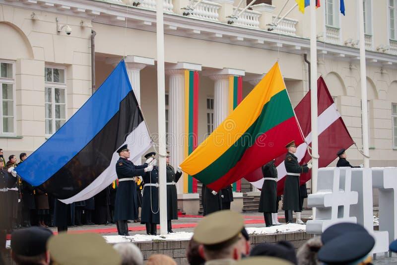 100th rocznica przywrócenie Litewski statehood fotografia stock