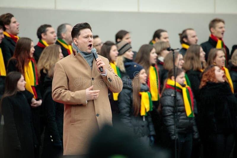 100th rocznica przywrócenie Litewski statehood obrazy stock