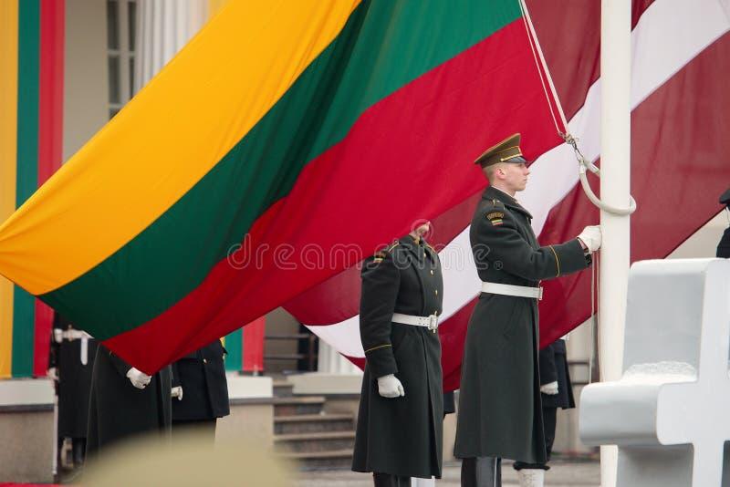 100th rocznica przywrócenie Litewski statehood fotografia royalty free