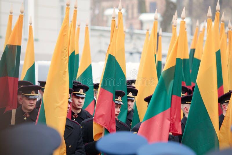 100th rocznica przywrócenie Litewski statehood zdjęcie royalty free