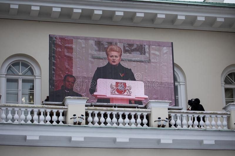 100th rocznica przywrócenie Litewski statehood zdjęcia royalty free