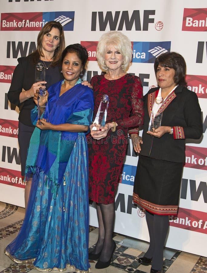 27th Rocznych Międzynarodowych kobiet Medialna Fundacyjna odwaga w dziennikarstwo nagrodach zdjęcie stock