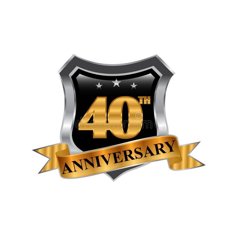 40th rok ikony rocznicowy logo projekta elementu grafika ilustracja wektor