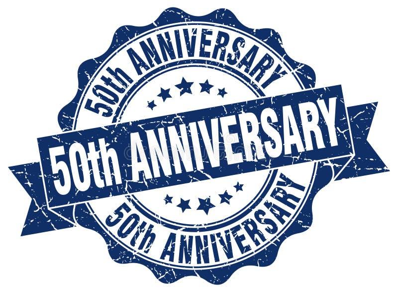 50th selo do aniversário selo ilustração do vetor