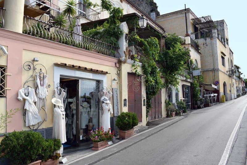 Clothes shop Positano royalty free stock photo