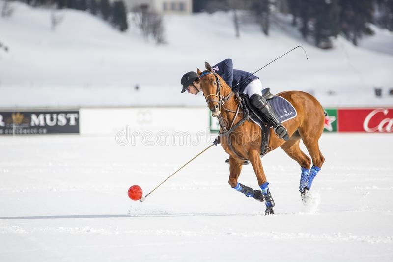 34TH SNOW POLO WORLD CUP - St. Moritz stock images