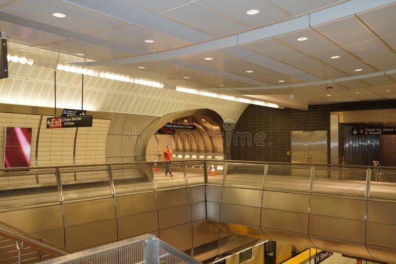 34th St - Hudson jardów stacja metru 60 obrazy stock