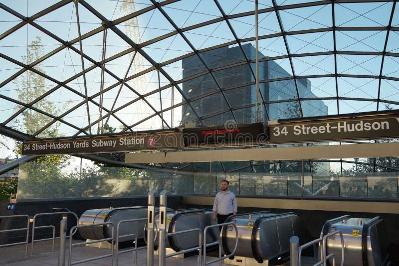 34th St - Hudson jardów stacja metru 93 obrazy stock