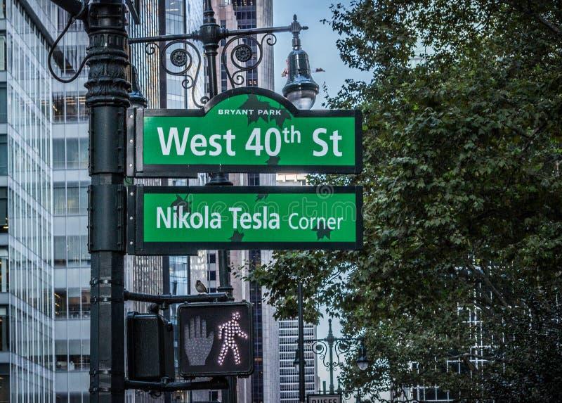 40th St ocidental, Manhattan, New York, EUA imagens de stock