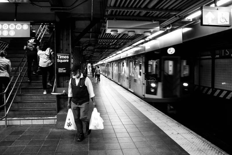 34th street Hudson Yards subway station- New York royalty free stock images
