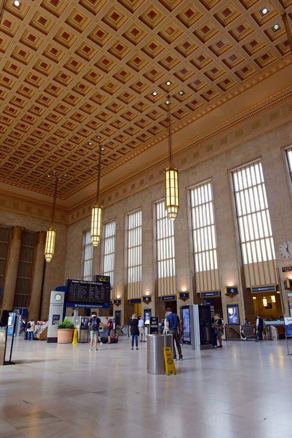 30th Street Station in Philadelphia, Pennsylvania royalty free stock image