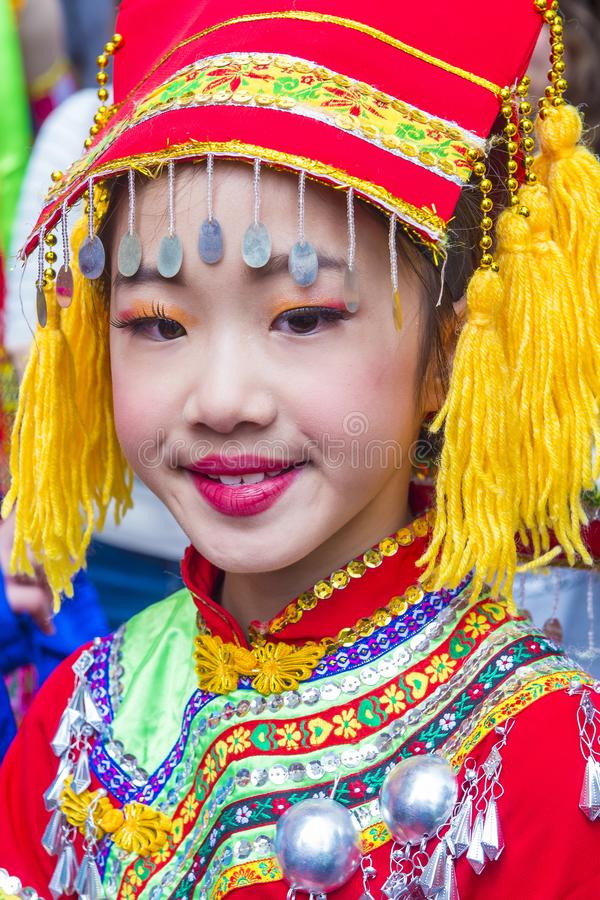 The 14th Tai Kok Tsui temple fair in Hong Kong. stock photos