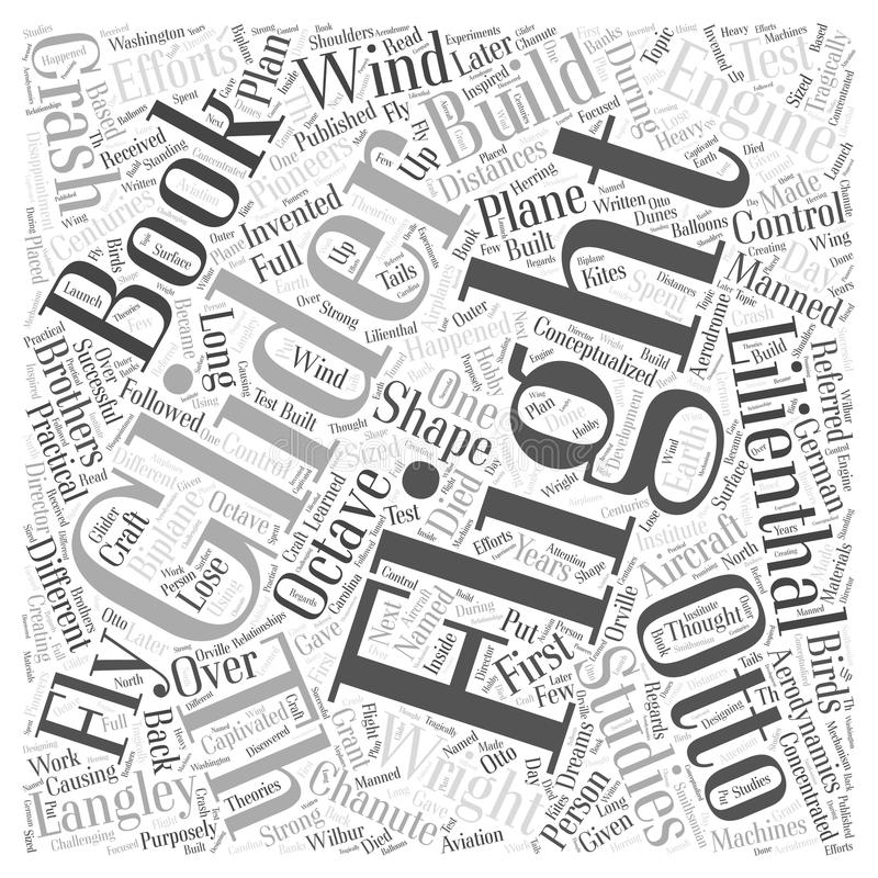 19th And 20th Century Flight Efforts word cloud concept background. Text vector illustration