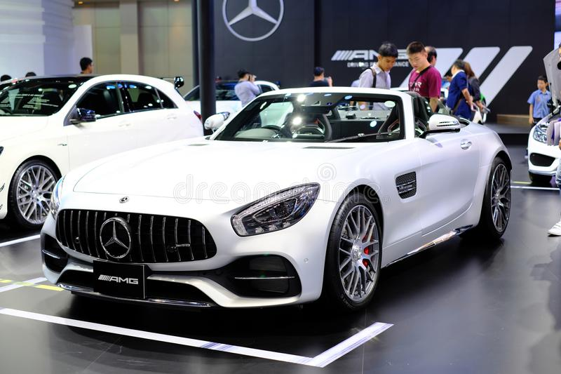 The 34th Thailand International Motor Expo. BANGKOK - THAILAND, December 3,2017 : Motor expo 2017, The 34th Thailand International Motor Expo at Impact royalty free stock images