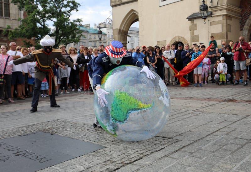 30th ulica - Międzynarodowy festiwal Uliczni teatry w Krakowskim, Polska obraz stock