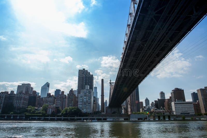59th ulica most (Ed Koch Queensboro most) obraz stock